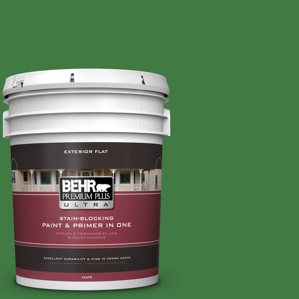 BEHR Premium Plus Ultra 5-gal. #M390-7 Hills of Ireland Flat Exterior Paint