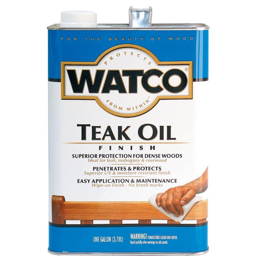 Watco 1 gal. Clear Matte 275 VOC Teak Oil (2-Pack)