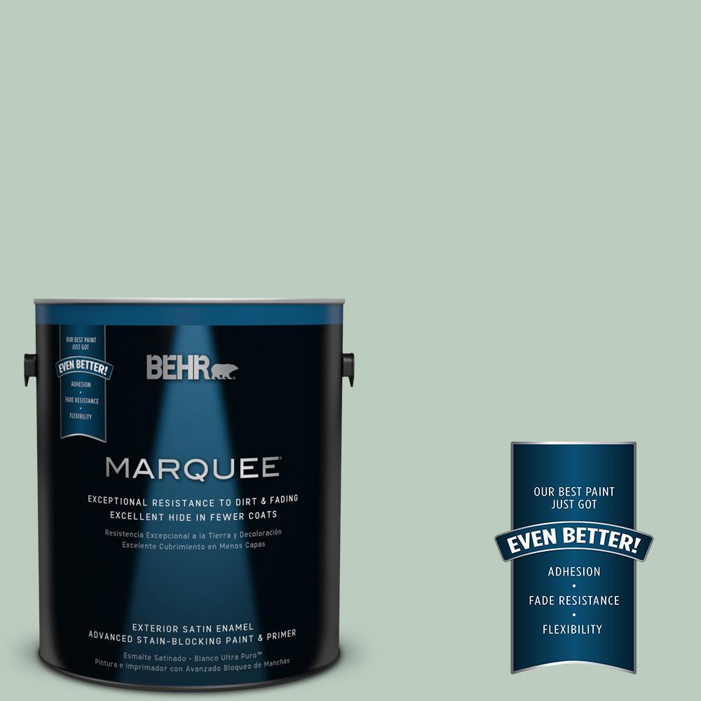 1 gal. #MQ3-49 Jade Tinge Satin Enamel Exterior Paint