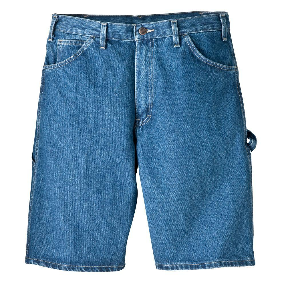 Dickies Relaxed Fit 38 in. x 11 in. Cotton Carpenter Short Indigo Blue-DISCONTINUED