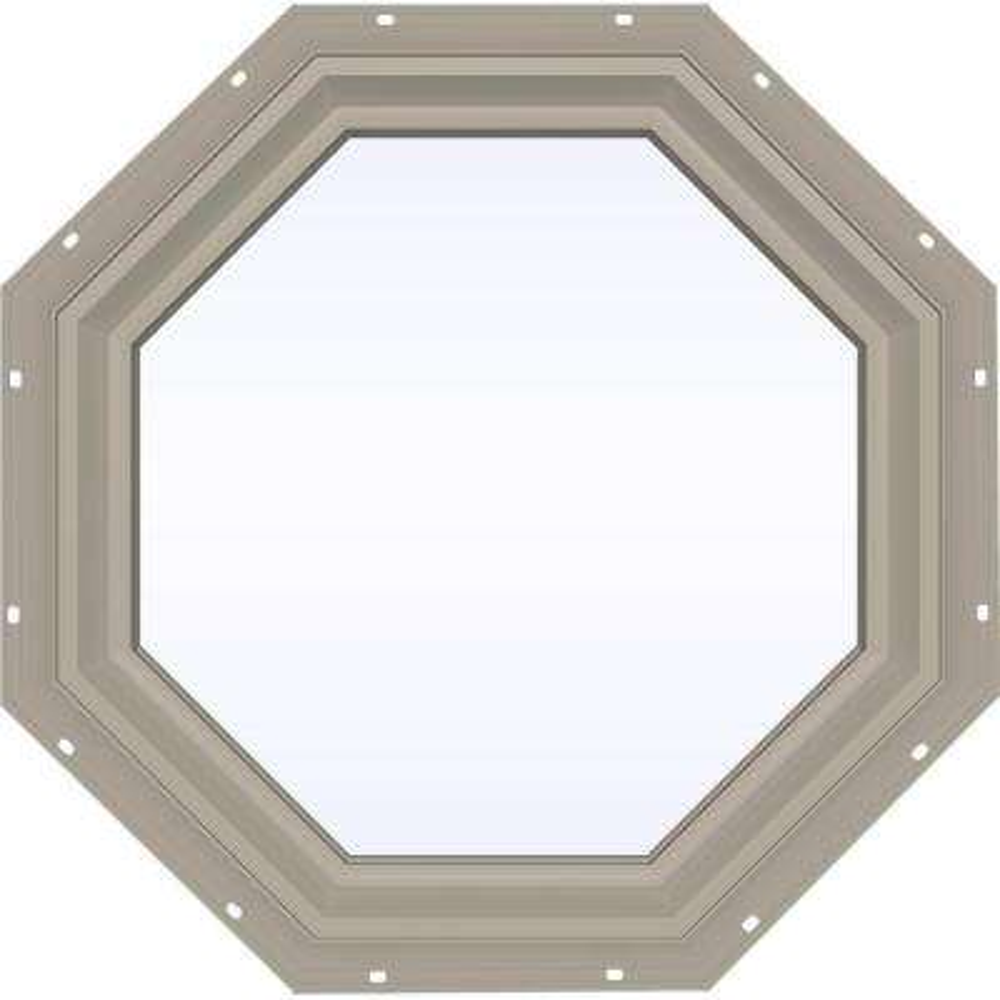 V-2500 Series Fixed Octagon Vinyl Window