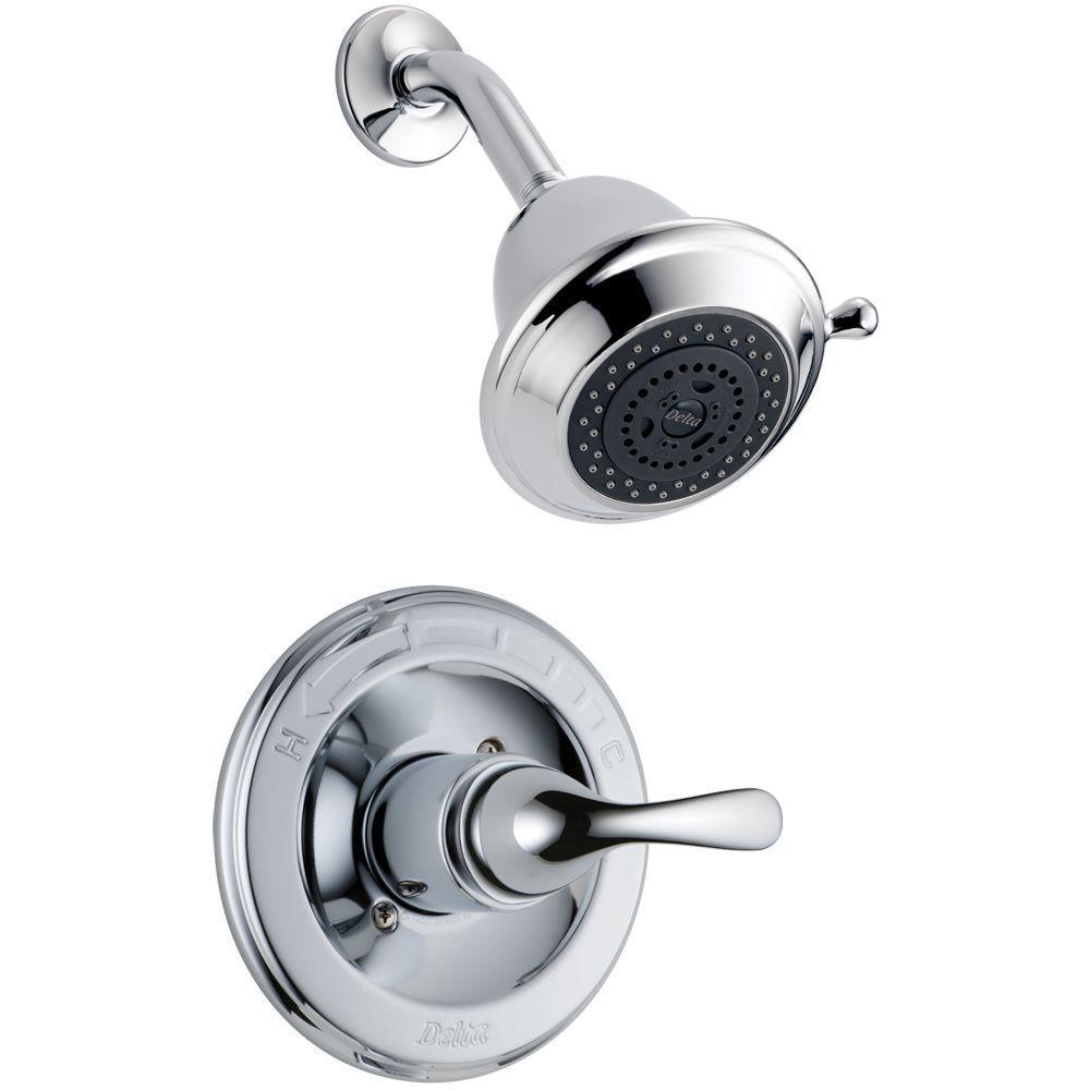 Delta Classic 1-Handle Shower Faucet Trim Kit in Chrome (Valve Not ...