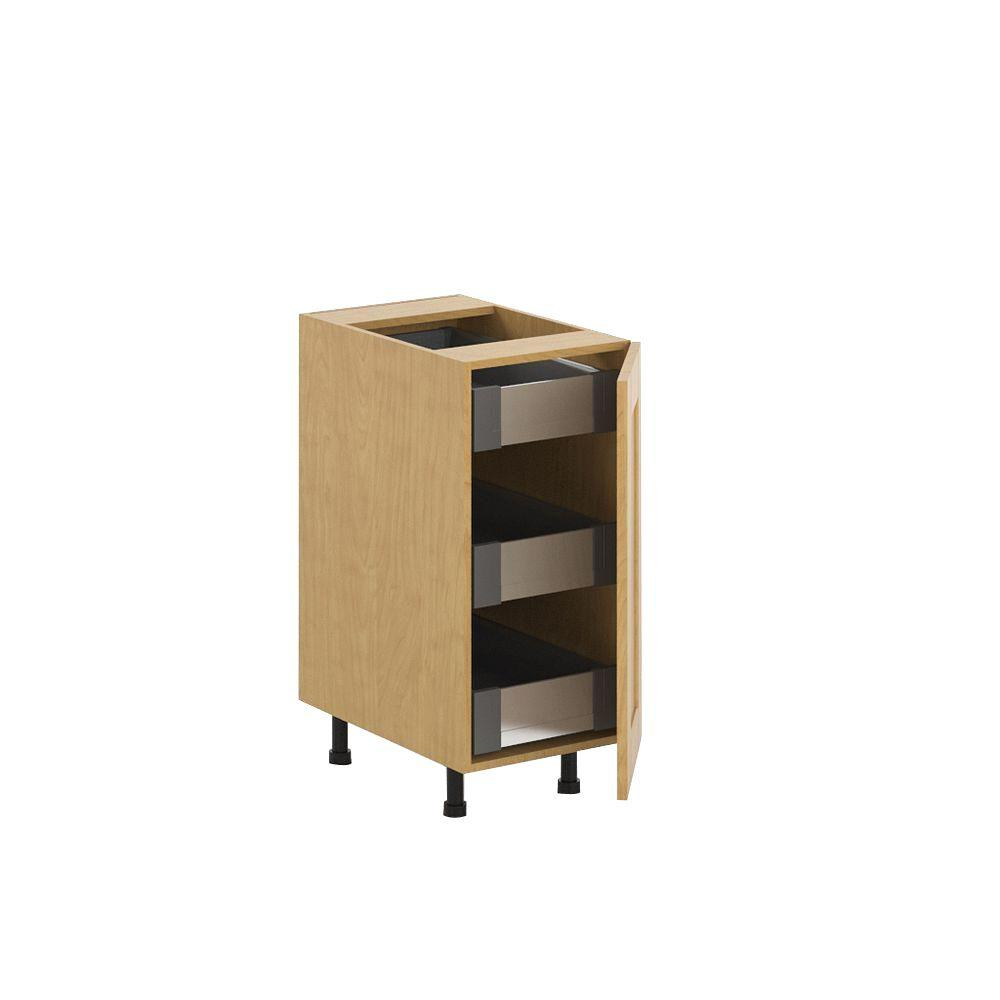 Ready to Assemble 15x34.5x24.5 in. Milano 3-Interior Drawer Base Cabinet in