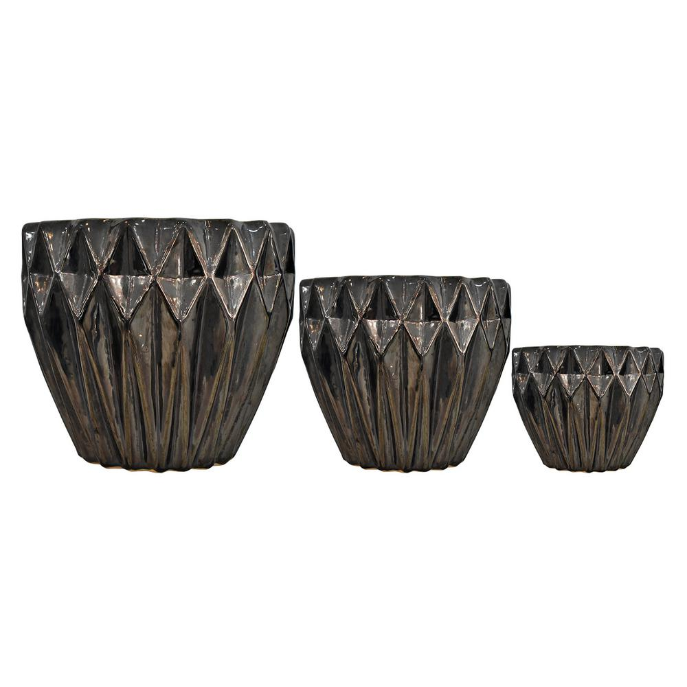 Ceramic Planter S 3 In Black