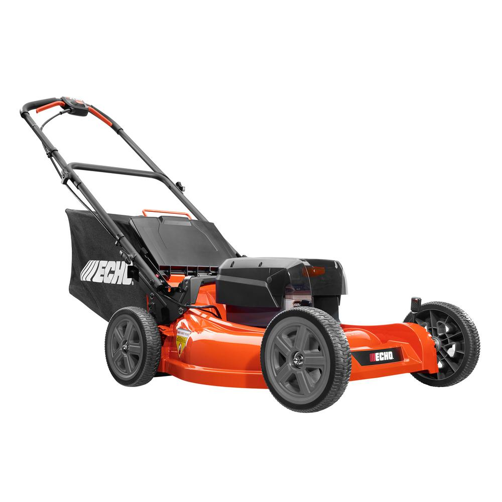 ECHO 21 in. 58-Volt Brushless Lithium-Ion Cordless Battery Walk Behind Push Lawn Mower 4.0 Ah Battery and Charger Included