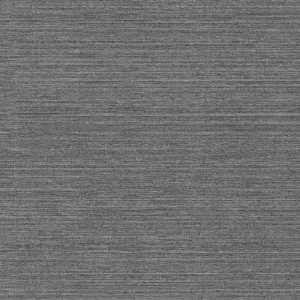 60.8 sq. ft. Oscar Charcoal Faux Fabric Wallpaper