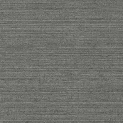 8 in. x 10 in. Oscar Charcoal Faux Fabric Wallpaper Sample