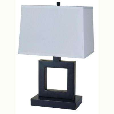 22 in. Square Dark Bronze Table Lamp