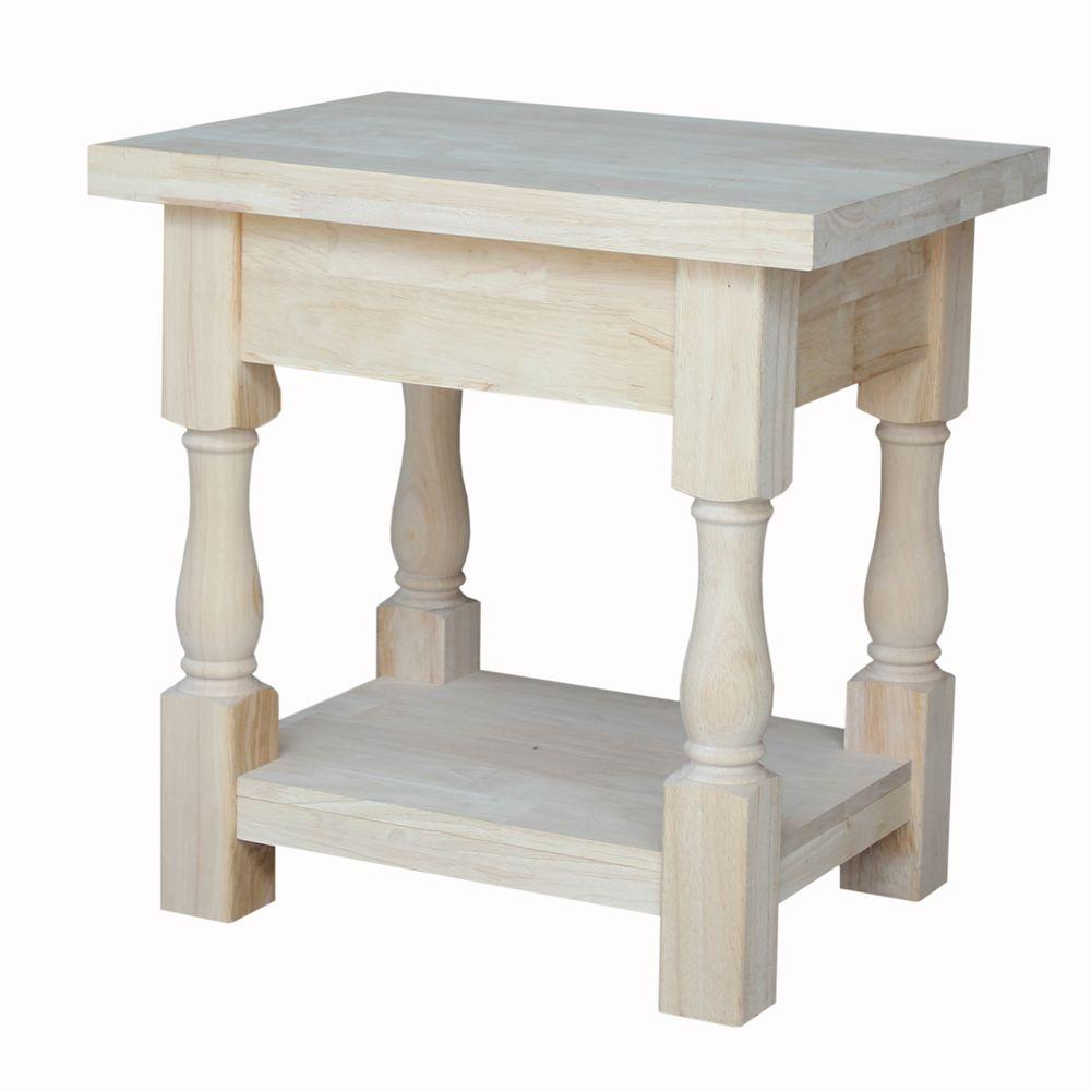 International Concepts Tuscan Unfinished End TableOT17E The Home