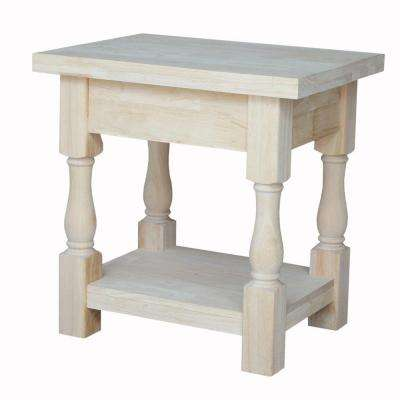 Tuscan Unfinished End Table