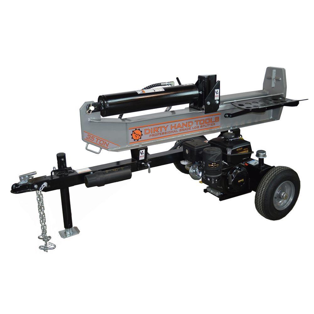 Dirty Hand Tools 35-Ton Gas Log Splitter with KOHLER 277 cc Engine