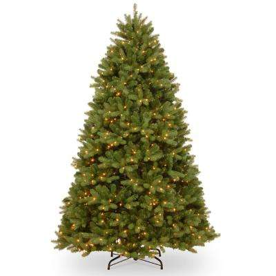 7-1/2 ft. Feel Real Newberry Spruce Hinged Tree with 900 Clear Lights