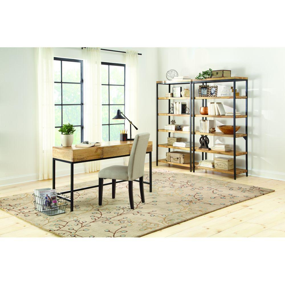 Home Decorators Collection Anjou Natural Desk With Storage 9530300910 The Home Depot