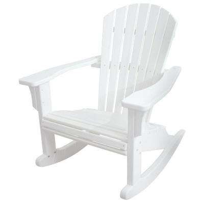 Seashell White Patio Rocker
