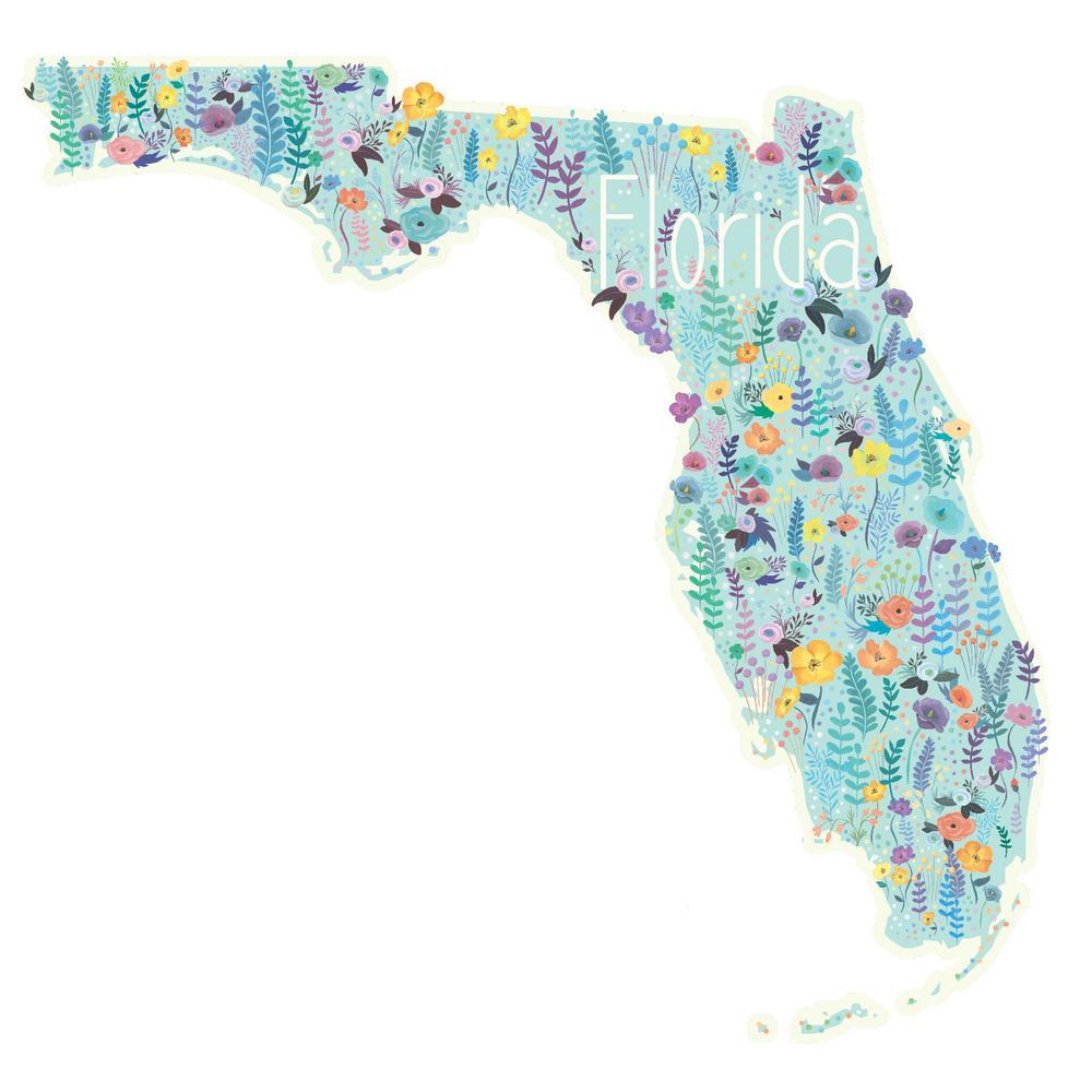 Green Florida Wall Decal