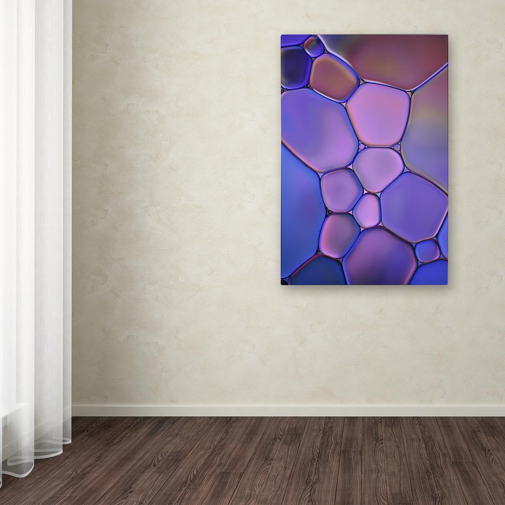 Trademark Fine Art 19 in. x 12 in. ''Purple Stained Glass''