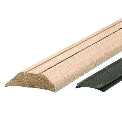 High 3-1/2 in. x 28 in. Unfinished Hardwood Threshold with Flexible Vinyl Seal