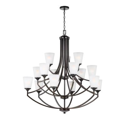 Hanford 15-Light Burnt Sienna Multi Tier Chandelier