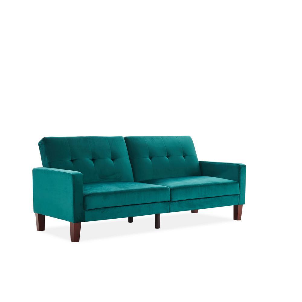 Boyel Living Velvet Sofa Bed In Teal