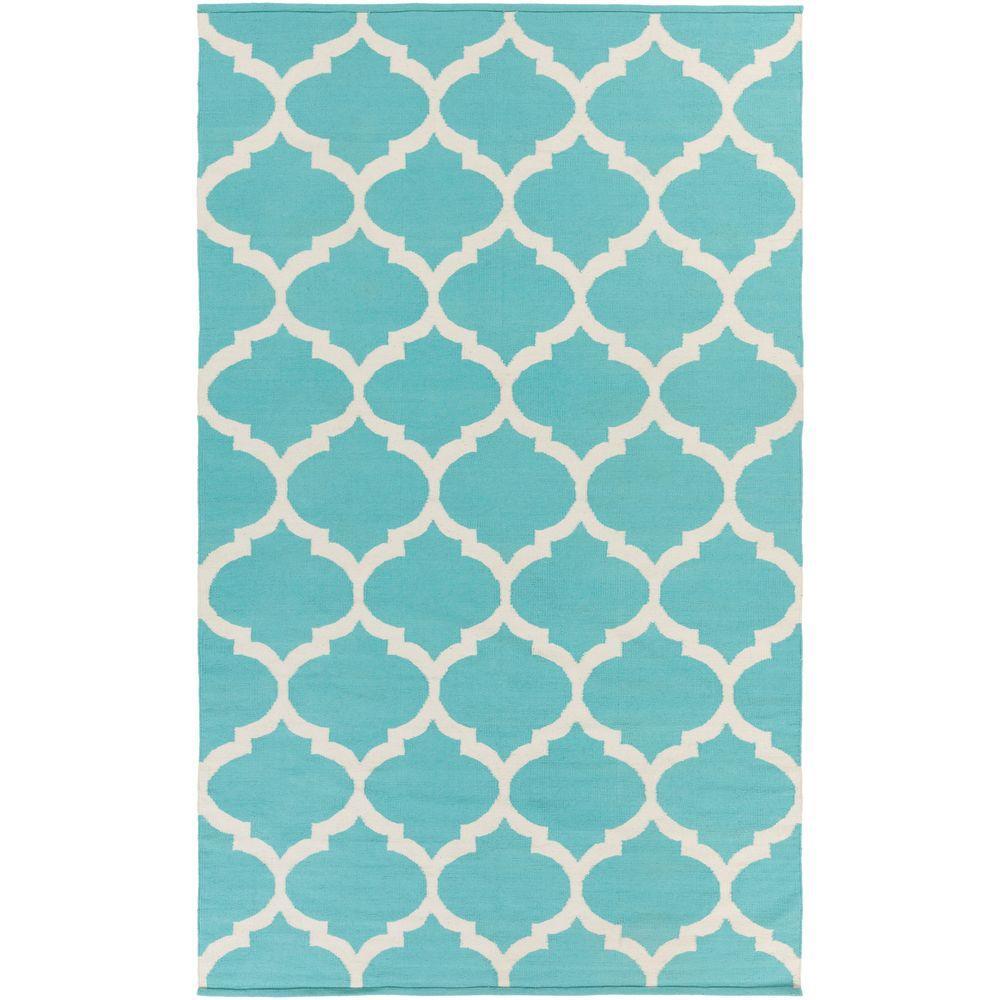 Artistic Weavers Bernadette Teal 8 Ft. X 10 Ft. Indoor