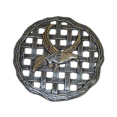 12 in. x 12 in. Circular Eagle Aluminum Step Stone