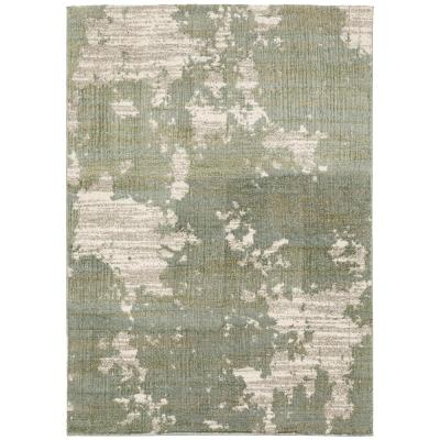 Samara Green 5 ft. x 7 ft. Abstract Shag Area Rug