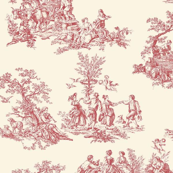 Norwall Romantic Toile Wallpaper Gc29851 The Home Depot