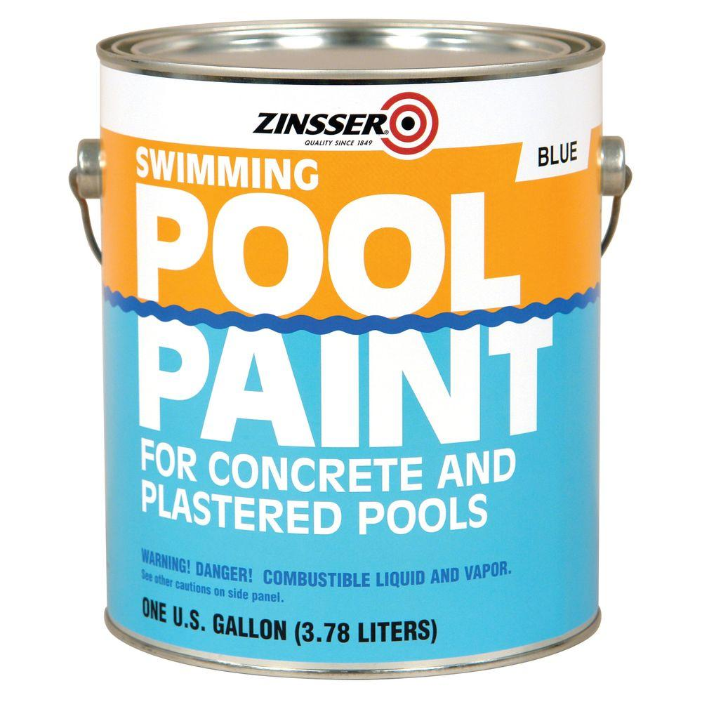 Swimming Pool Painters : Zinsser gal blue flat oil based swimming pool paint