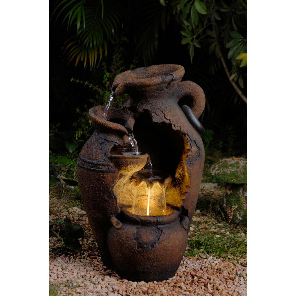 Fountain Cellar Old Fashion Pot Outdoor Fountain with LED Light