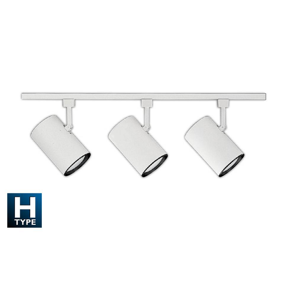 NICOR 4 ft. 3-Light White Track Lighting Kit