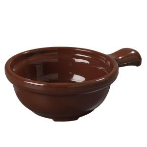 Carlisle 12 oz. 5.25 inch Diameter Polycarbonate Handled Soup Bowl in Lenox Brown (Case of 24) by Carlisle
