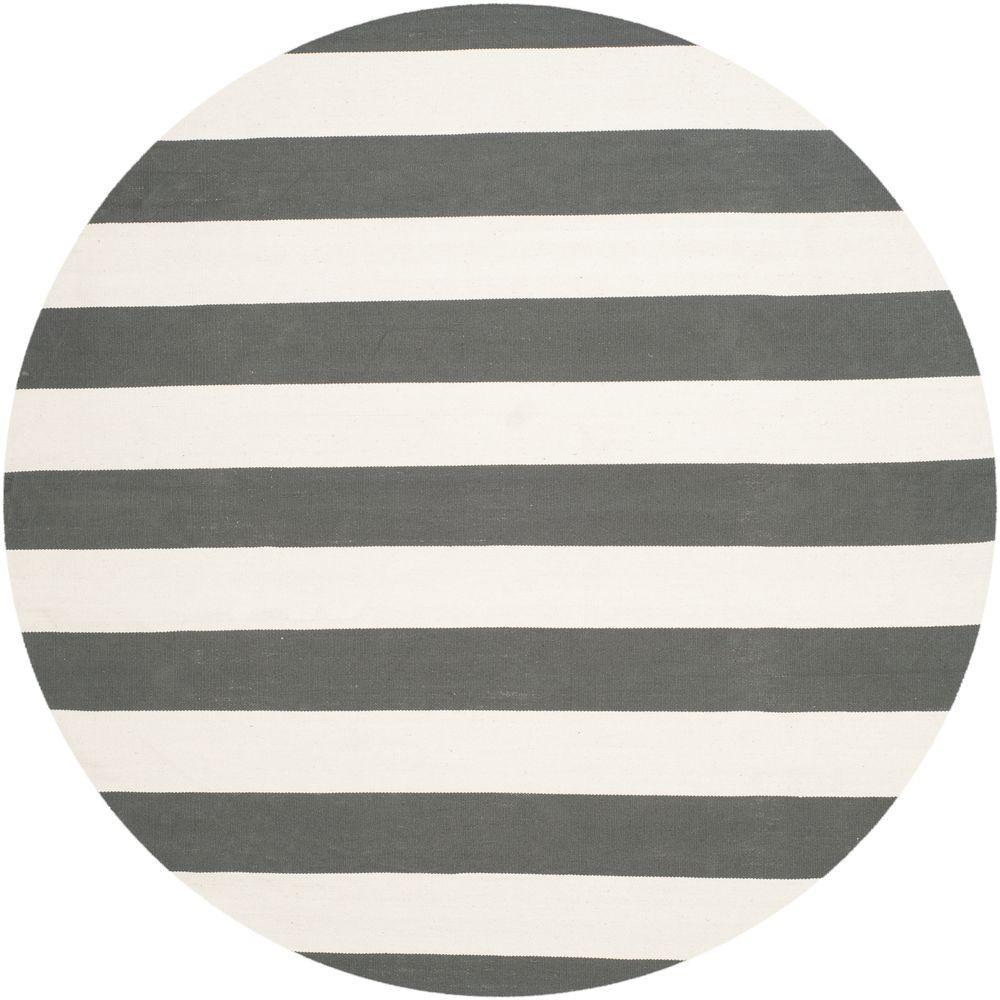 6 foot round rug round table safavieh montauk greyivory ft round area rug rugmtk712g6r