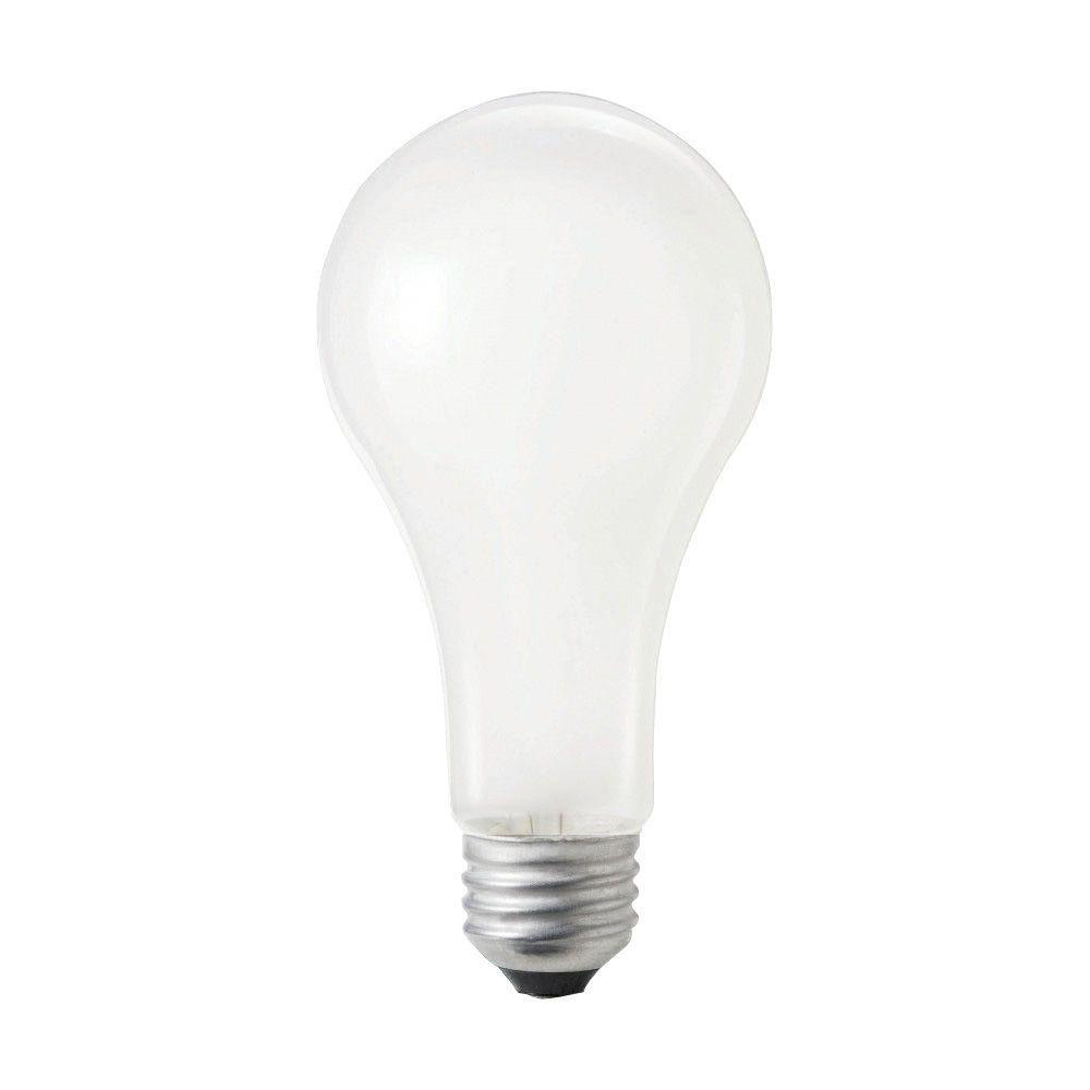 Philips 100 Watt Incandescent A21 Silicone Coated Rough Service 120 130 Volt Frosted Light Bulb