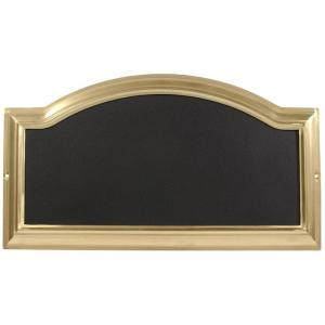 The Hillman Group Distinctions Rectangular Arch-Top Brass-Plated Address Plaque by The Hillman Group