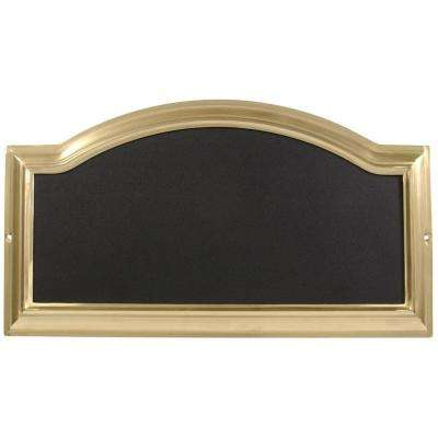 Distinctions Rectangular Arch-Top Brass-Plated Address Plaque