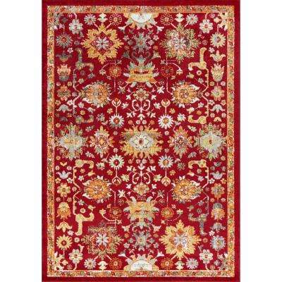 Skyline Red 5 ft. x 8 ft. Traditional Area Rug