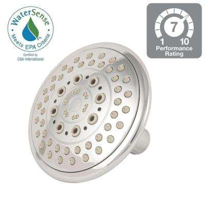 5-Position 5 in. 5-Spray Fixed Showerhead in Chrome