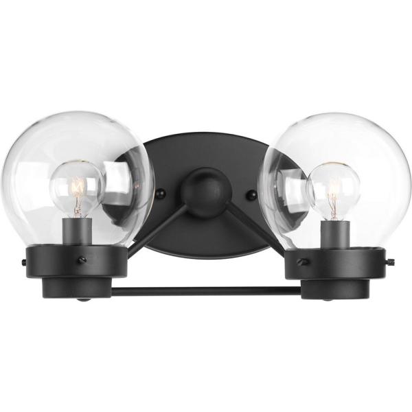 Spatial Collection 2-Light Black Bath Light