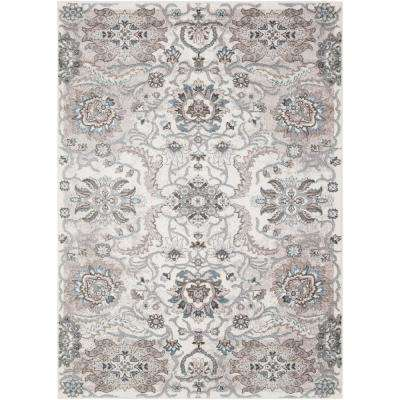 Pasco Taupe 5 ft. 3 in. x 7 ft. 3 in. Floral Area Rug