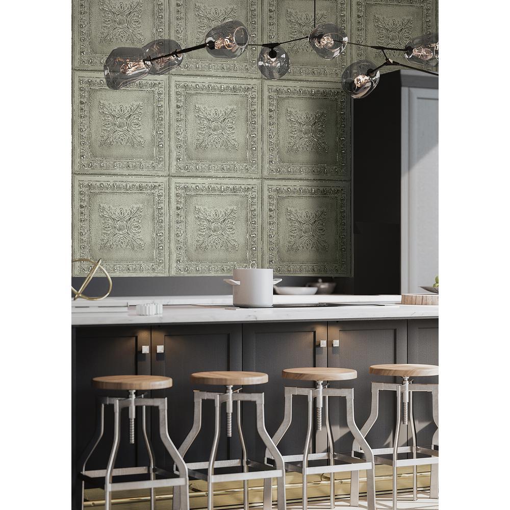 Ornamental Mint Tin Tile Wallpaper