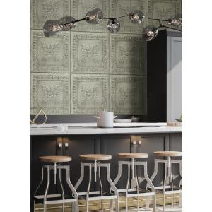 Click here to buy A-Street Ornamental Mint Tin Tile Wallpaper by A-Street.