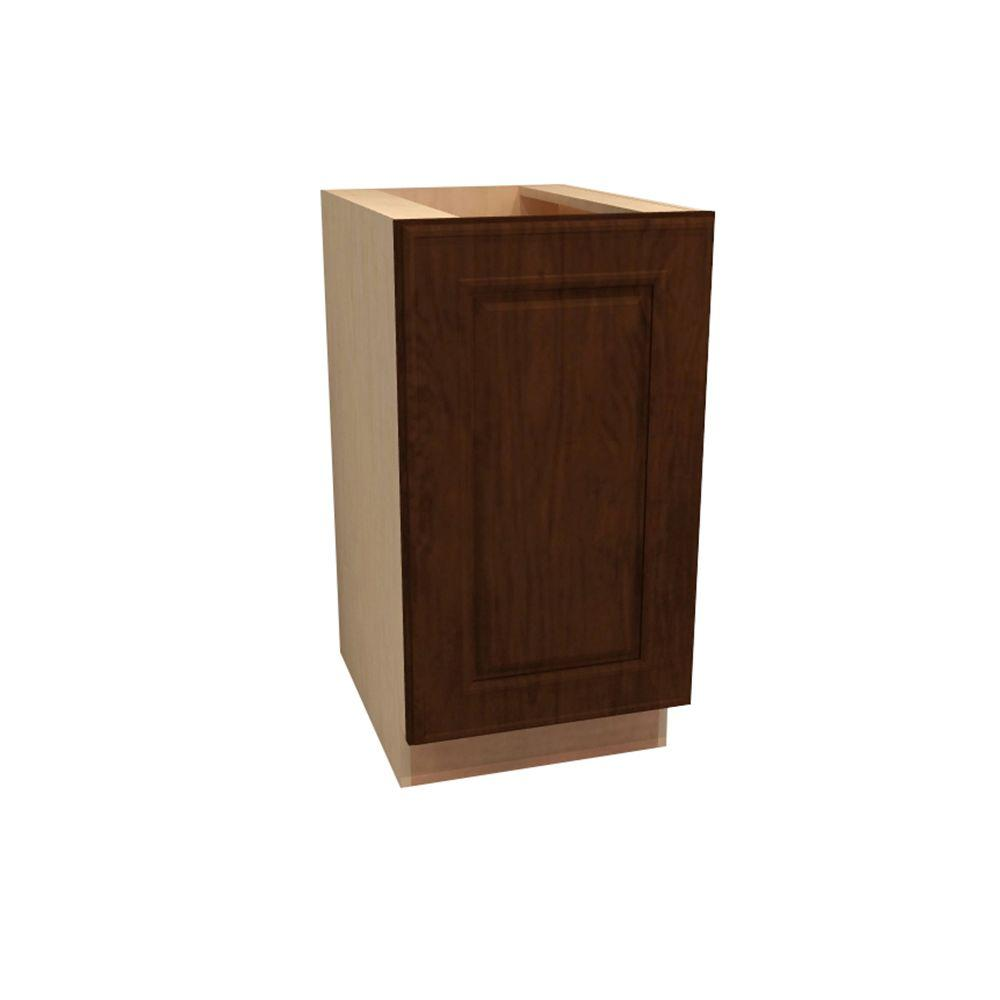 Home Decorators Collection 12x34.5x24 in. Roxbury Assembled Base Cabinet with Single Door in Manganite Glaze