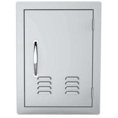 Classic Series 14 in. x 20 in. 304 Stainless Steel Vertical Access Door with Vents