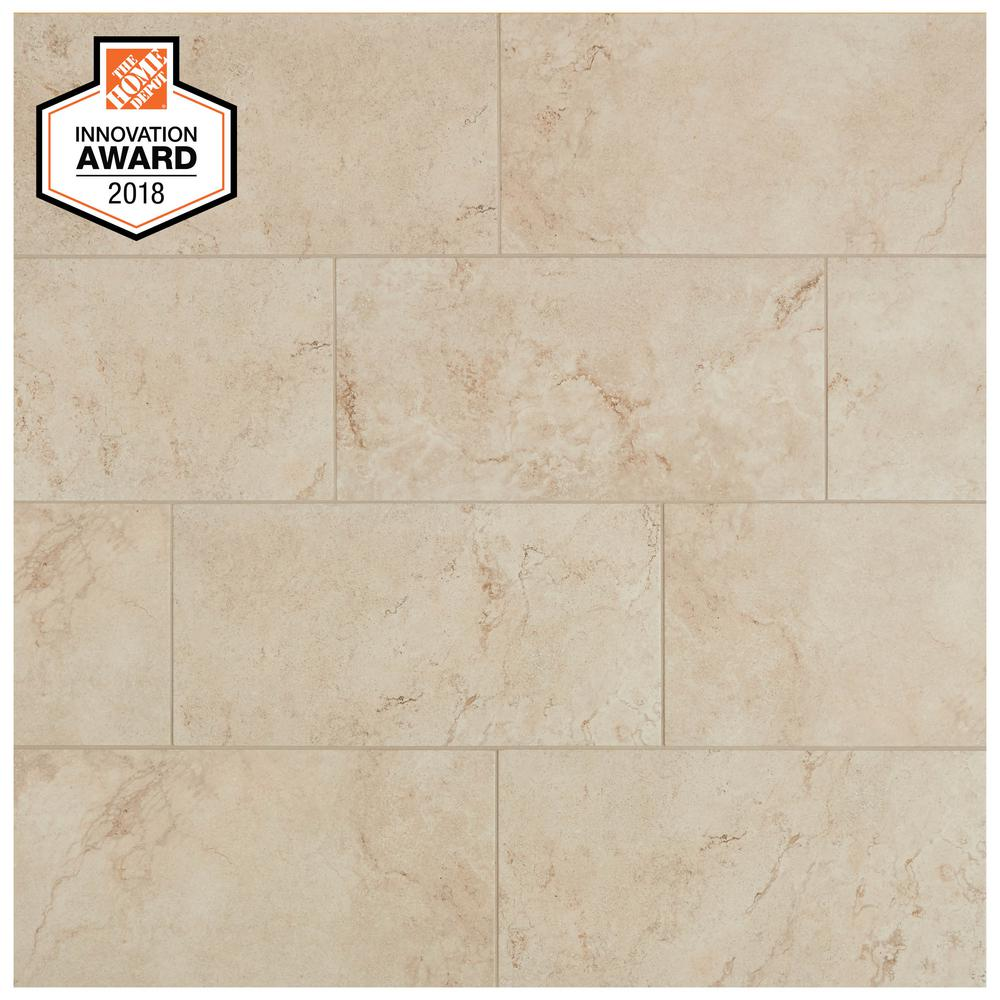 Lifeproof Limestone 7 in. x 7 in. Glazed Porcelain Floor and Wall Tile  (7.7 sq. ft. / case)