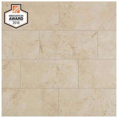Limestone 12 in. x 24 in. Glazed Porcelain Floor and Wall Tile (15.6 sq. ft. / case)
