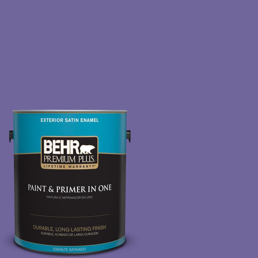 BEHR Premium Plus 1-gal. #630B-7 Pandora Satin Enamel Exterior Paint