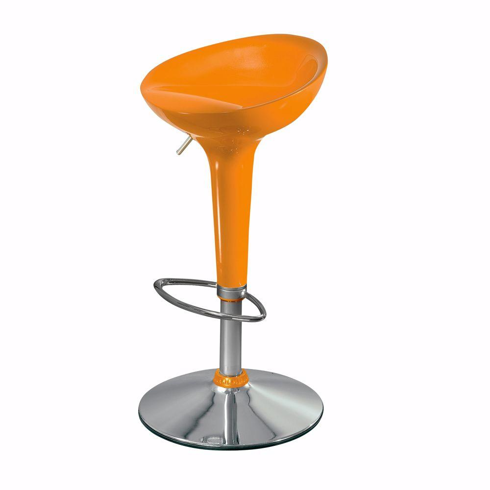 Home Decorators Collection Ventura Orange Backless Adjustable Height Stool