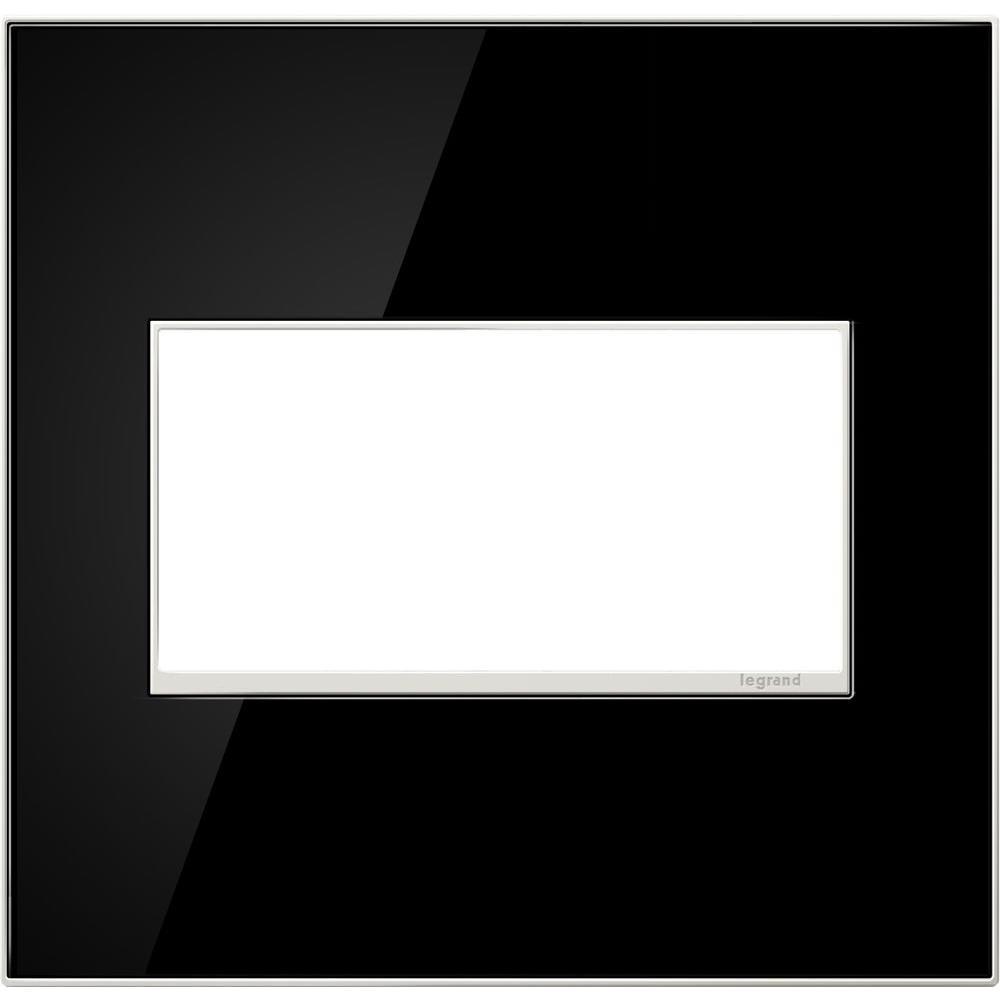 Legrand adorne 2-Gang 2 Module Wall Plate, Mirror Black