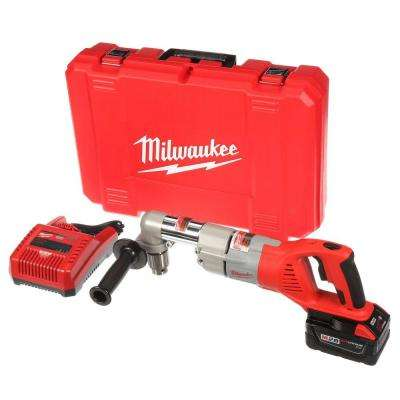 M28 28-Volt Lithium-Ion Cordless 1/2 in. Right Angle Drill w/(1) 3.0Ah Batteries & Charger