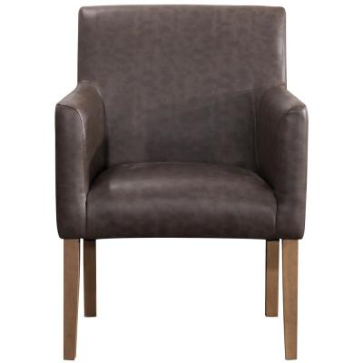 Brown Faux Leather Lexington Dining Chair